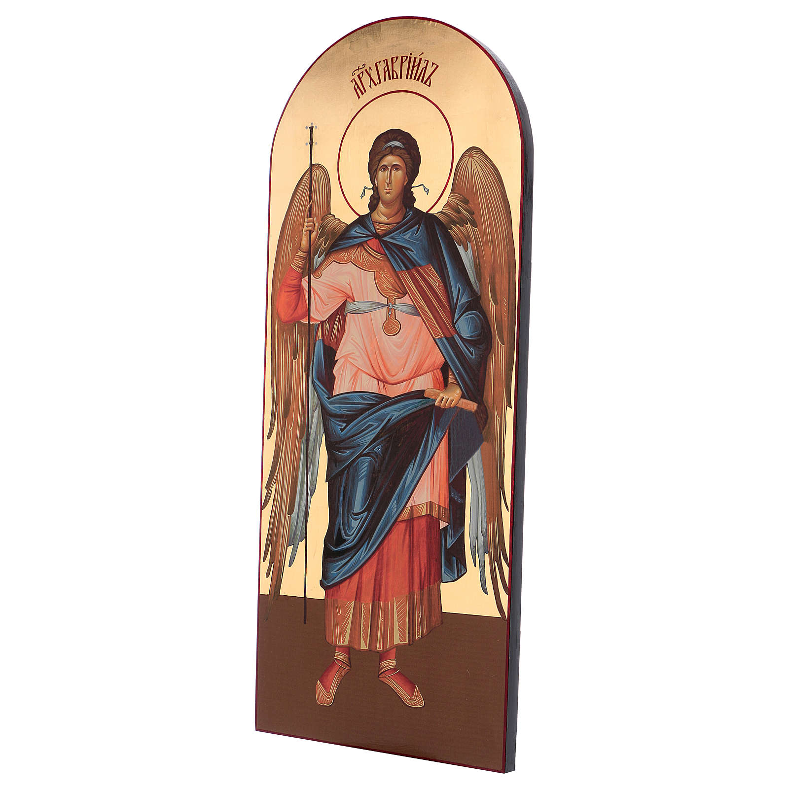 Icona serigrafata Arcangelo Gabriele arco 120x50 cm Russia 4