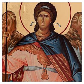 Icona serigrafata Arcangelo Gabriele arco 120x50 cm Russia s2