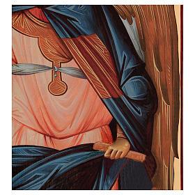 Icona serigrafata Arcangelo Gabriele arco 120x50 cm Russia s3