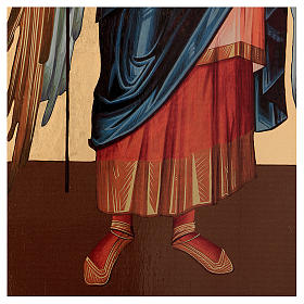 Icona serigrafata Arcangelo Gabriele arco 120x50 cm Russia s4