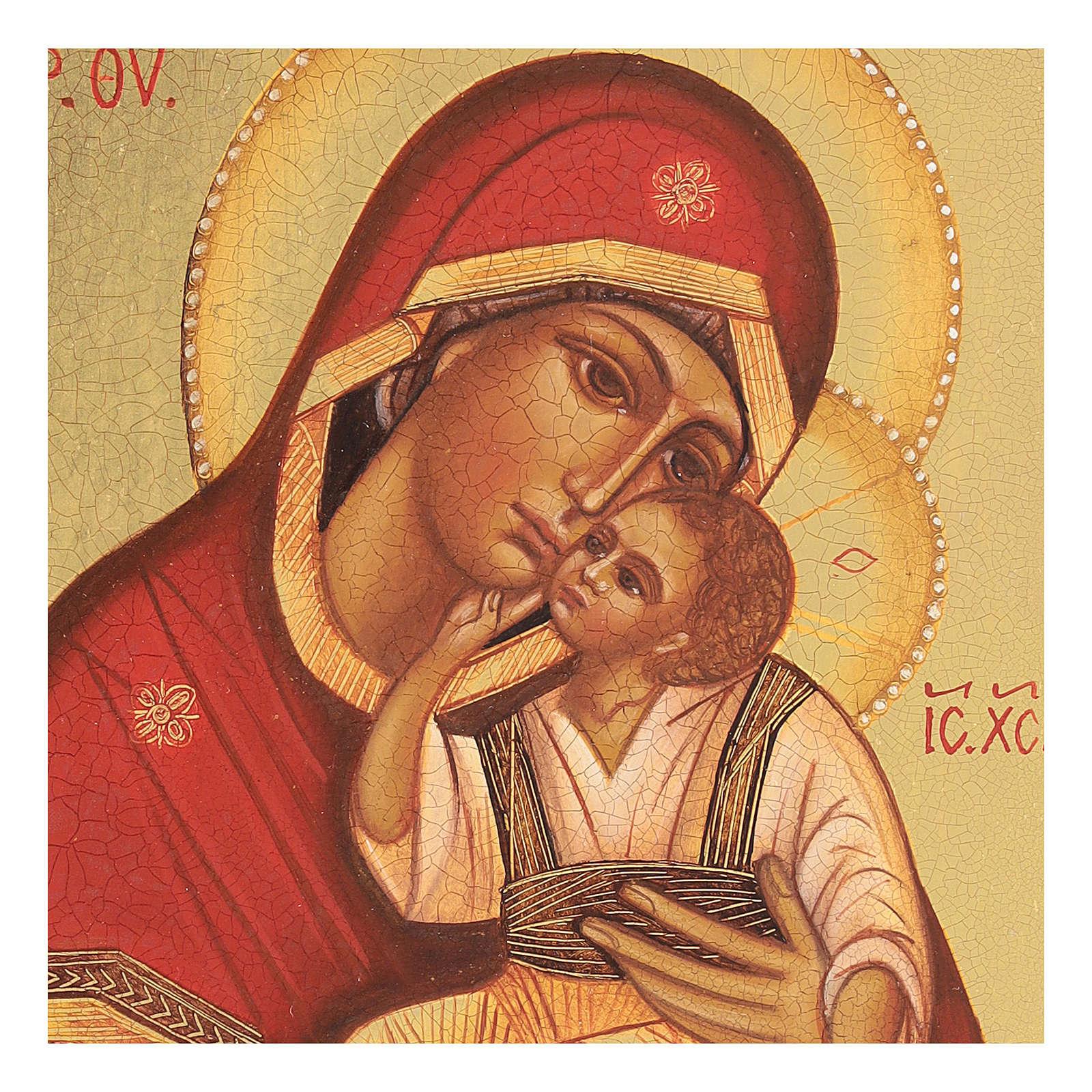 Icona russa Madonna di Jachroma 14x10 cm Russia dipinta 4