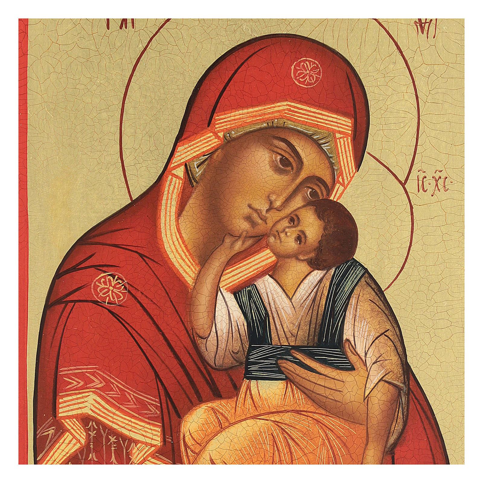 Icona russa Madre di Dio di Jachromskaja 14x10 cm Russia dipinta 4
