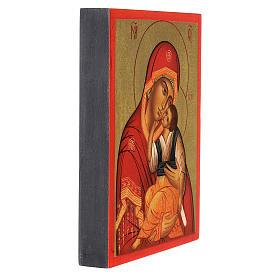 Icona russa Madre di Dio di Jachromskaja 14x10 cm Russia dipinta s3
