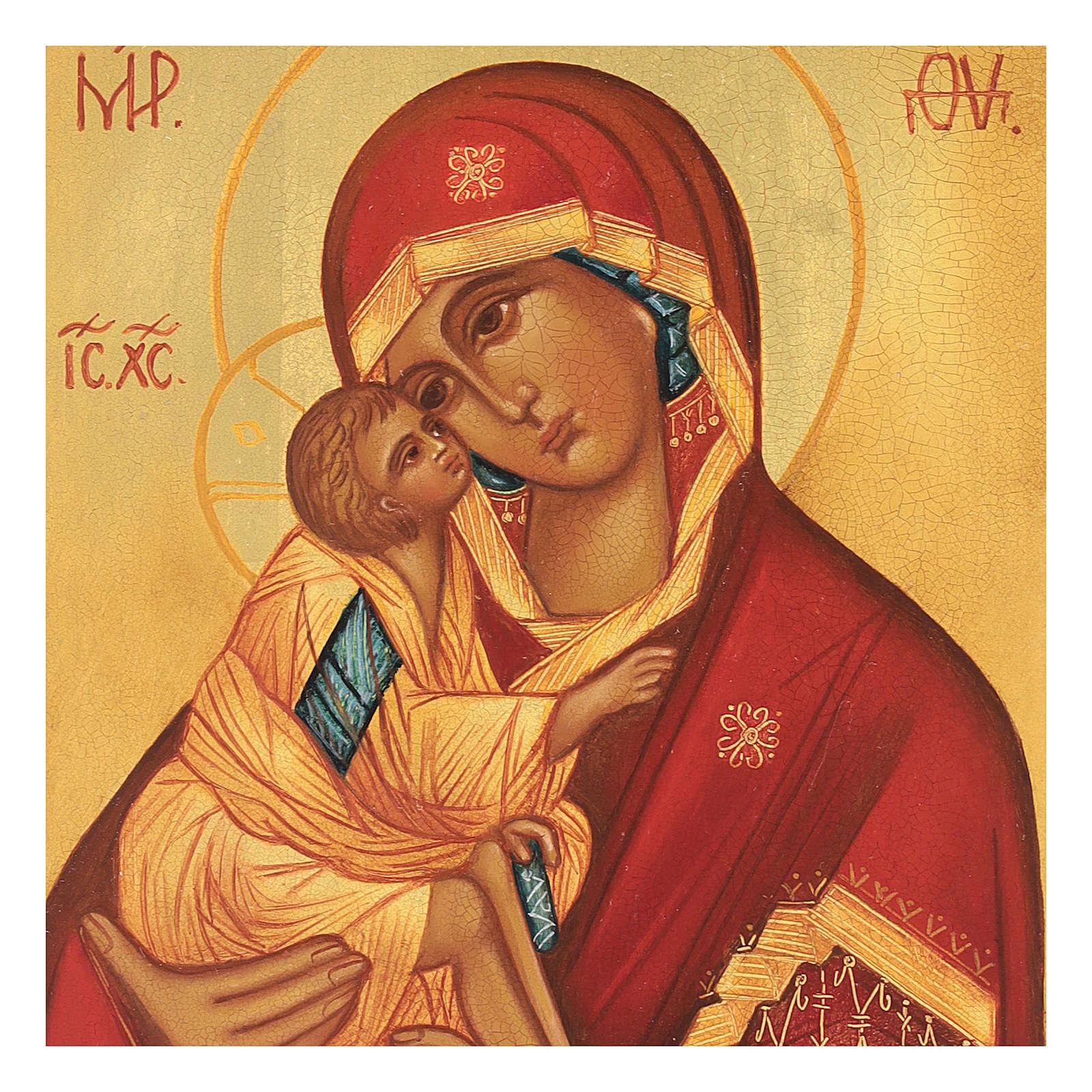 Icona russa Madonna di Don 14x10 Russia dipinta 4