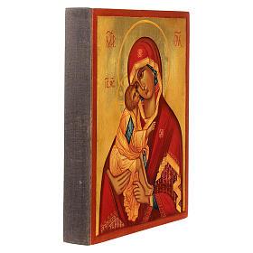 Icona russa Madonna di Don 14x10 Russia dipinta s3