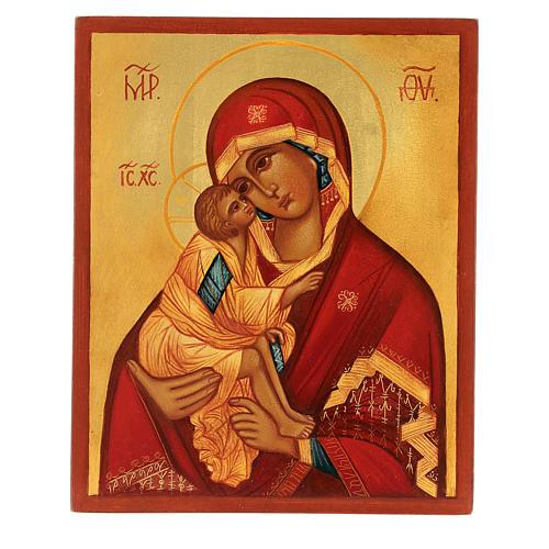 Icona russa Madonna di Don 14x10 Russia dipinta 1