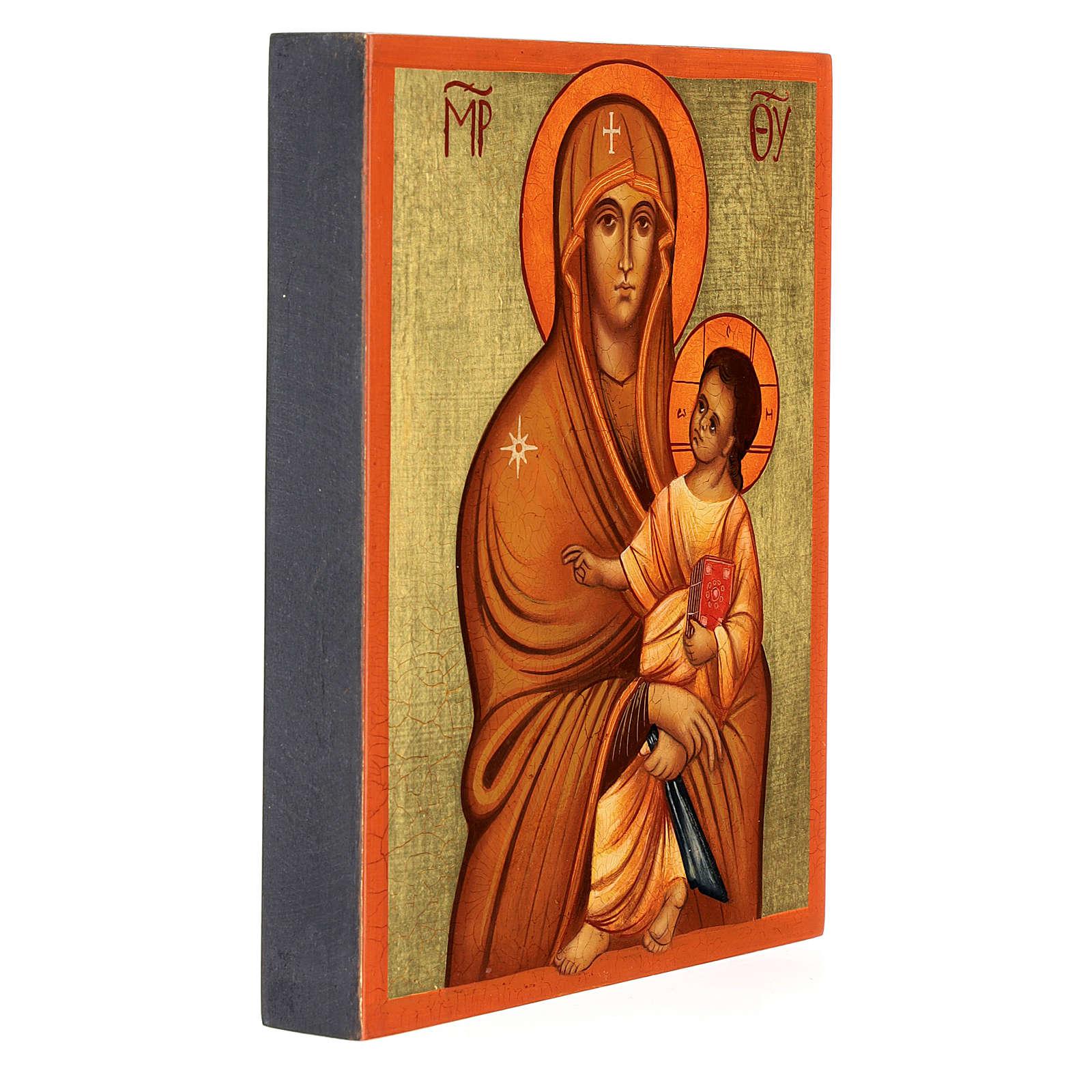 Icona russa Salus Populi Romani 14x10 Russia dipinta 4