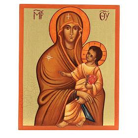 Icona russa Salus Populi Romani 14x10 Russia dipinta s1