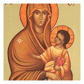 Icona russa Salus Populi Romani 14x10 Russia dipinta s2