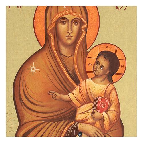 Icona russa Salus Populi Romani 14x10 Russia dipinta 2