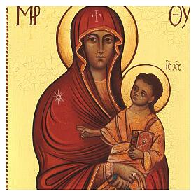 Icona russa dipinta Salus populi romani 14x10 cm s2