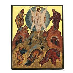Icona russa dipinta Trasfigurazione 14x10 cm s1