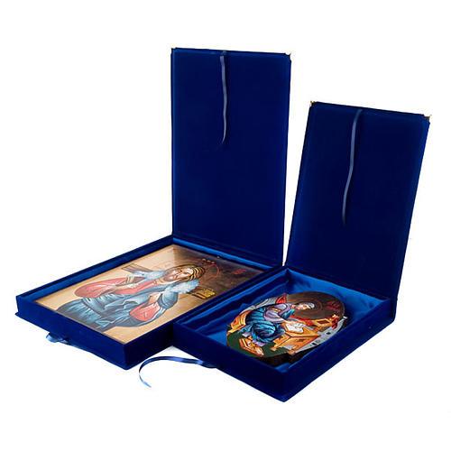 Caja terciopelo azul forro raso 1