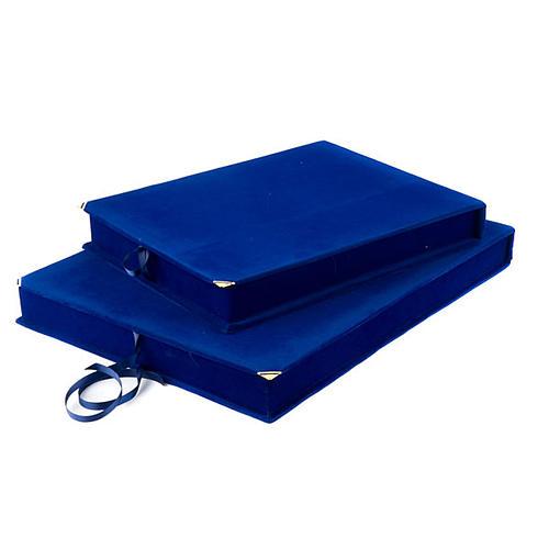 Caja terciopelo azul forro raso 2