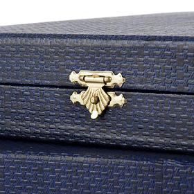 Coffret bleu, intérieur en satin s3