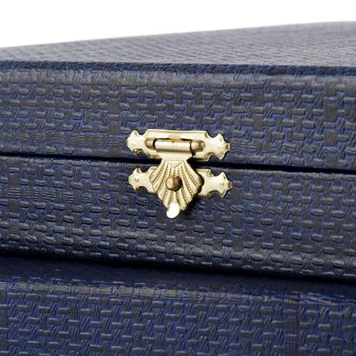 Pudełko niebieskie wnętrze z satyny 3