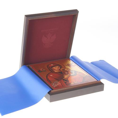 Caja rusa de madera para íconos 3