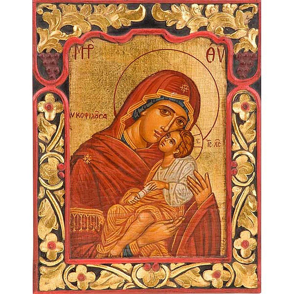 Icona Vergine Glikofilussa bordo intagliato 4