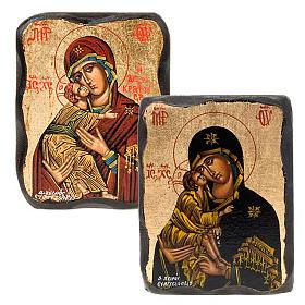 Icona Vergine Vladimir smussata s1