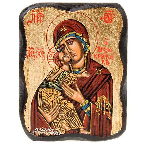 Icona Vergine Vladimir smussata 3