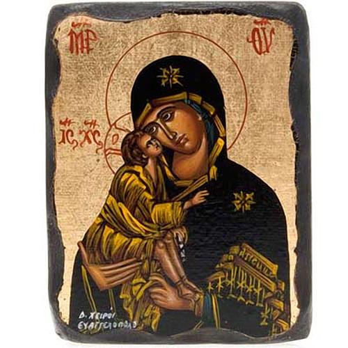 Icona Vergine Vladimir smussata 4