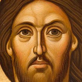 Icona religiosa Pantocratore primo piano Grecia dipinta s2