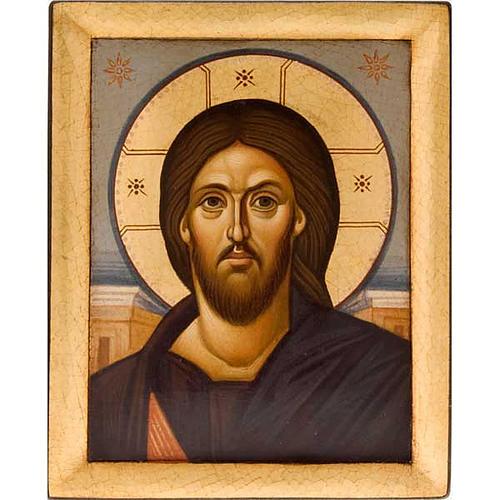 Icona religiosa Pantocratore primo piano Grecia dipinta 1