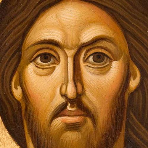 Icona religiosa Pantocratore primo piano Grecia dipinta 2