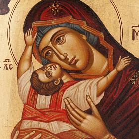 Icona Madre di Dio Odighitria dipinta Grecia s2