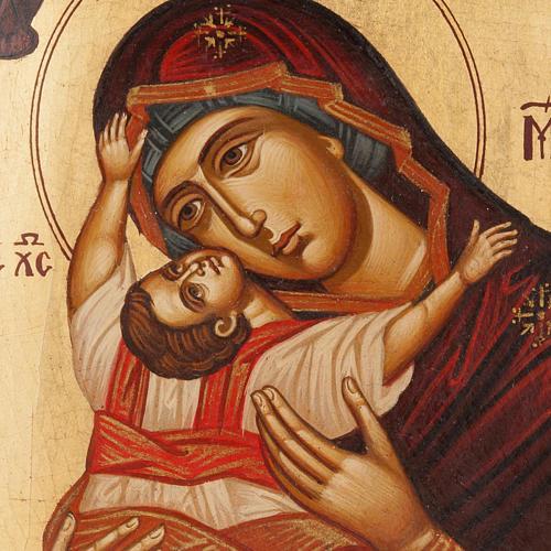 Icona Madre di Dio Odighitria dipinta Grecia 2