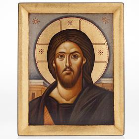 Icona Gesù del Sinai dipinta a mano Grecia s1