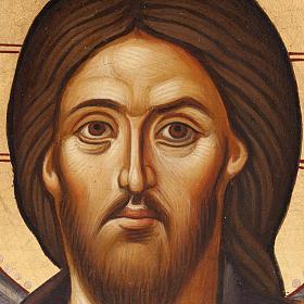 Icona Gesù del Sinai dipinta a mano Grecia s2
