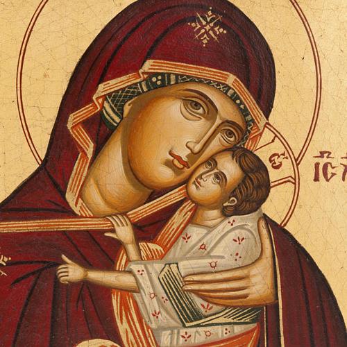 Ícono Madre de Dios de la Ternura pintada Grecia 2