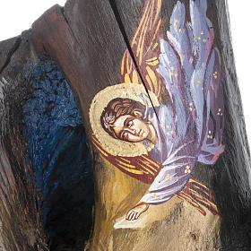 Icona dipinta su tronco 50x30 cm s5