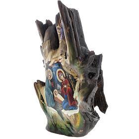 Icona dipinta su tronco 50x30 cm s6
