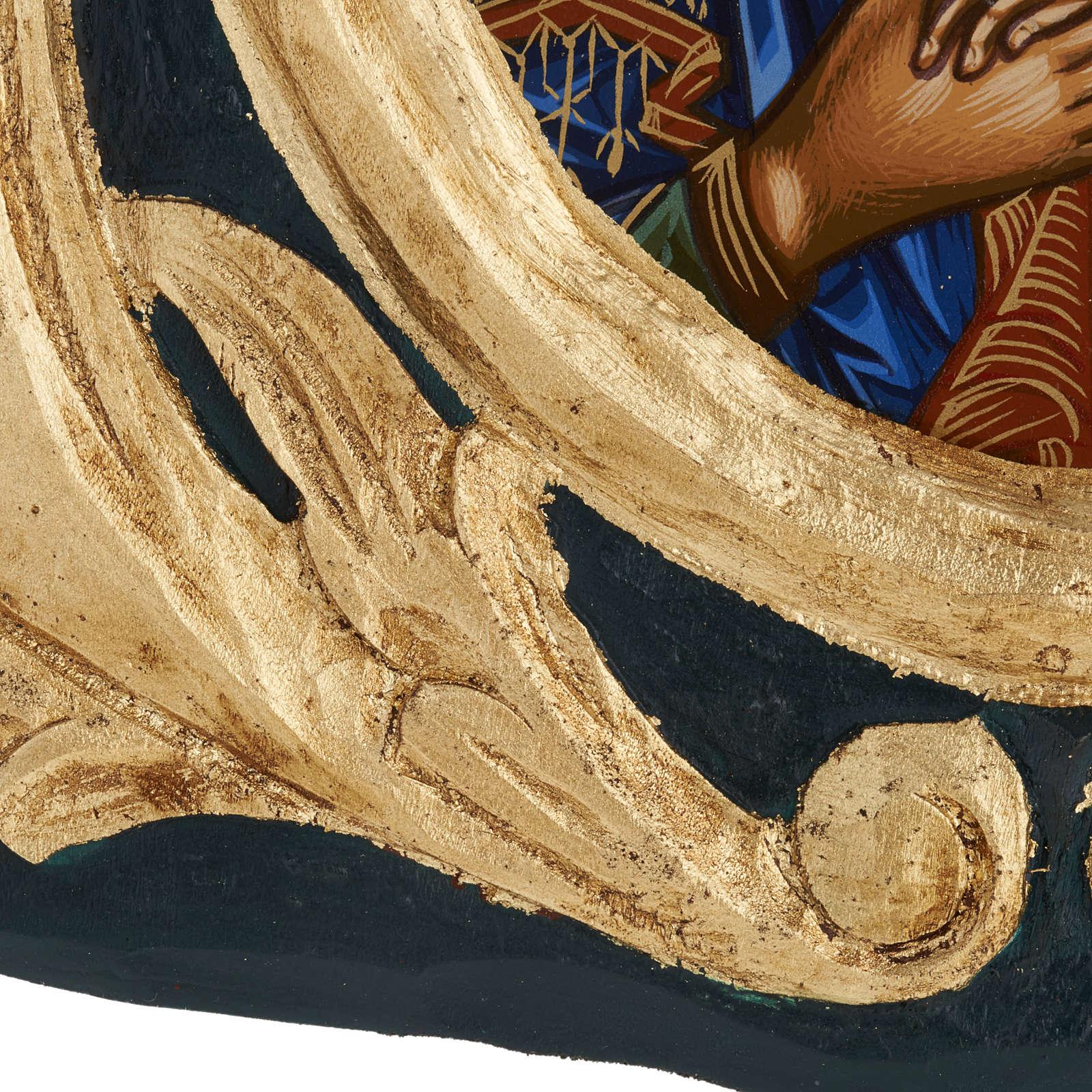 Icône Vierge Éléousa sérigraphiée et peinte Grèce 4