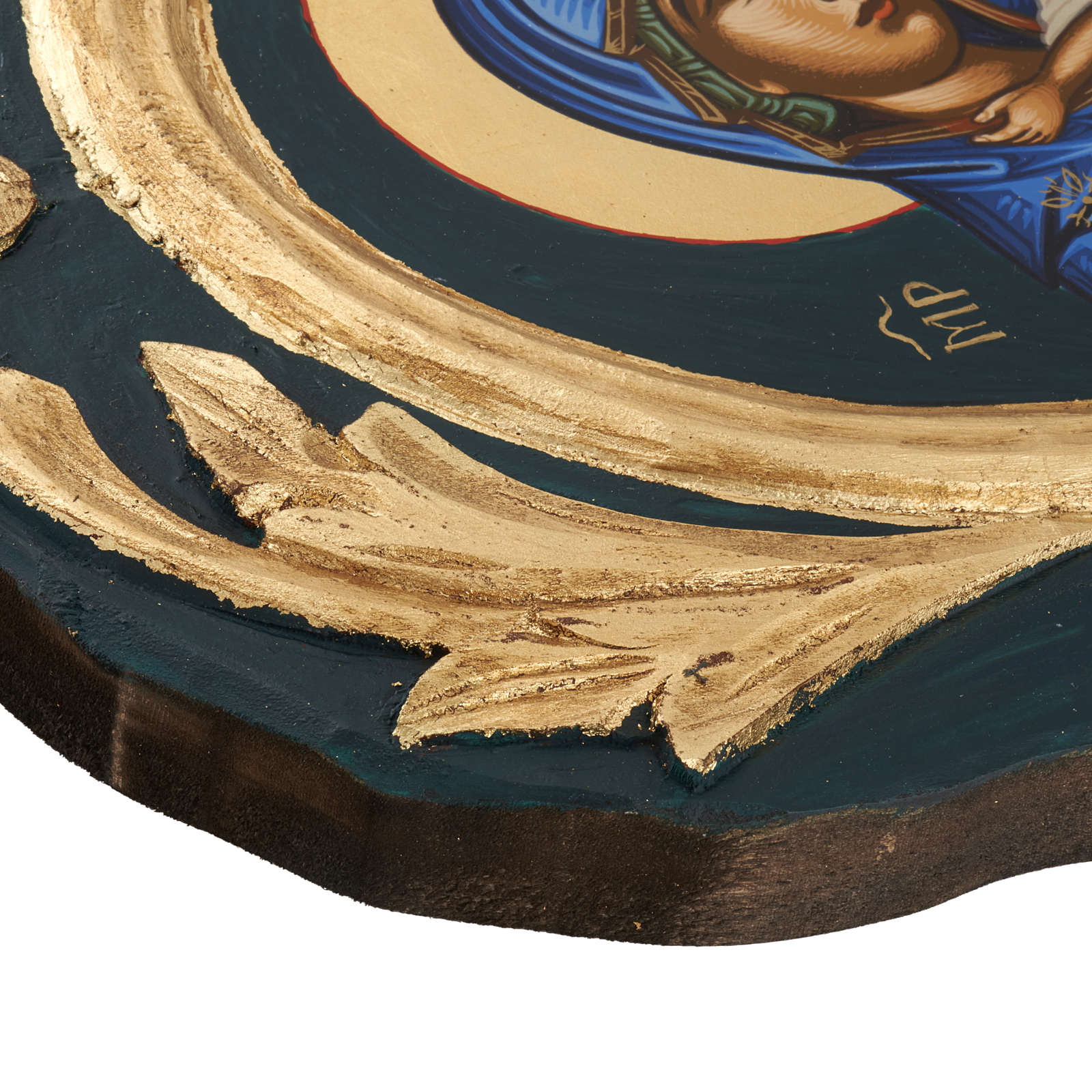 Icona Vergine Eleousa Grecia serigrafata e dipinta 4