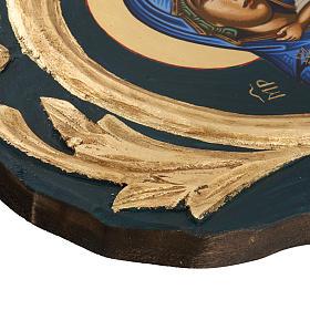 Icona Vergine Eleousa Grecia serigrafata e dipinta s5