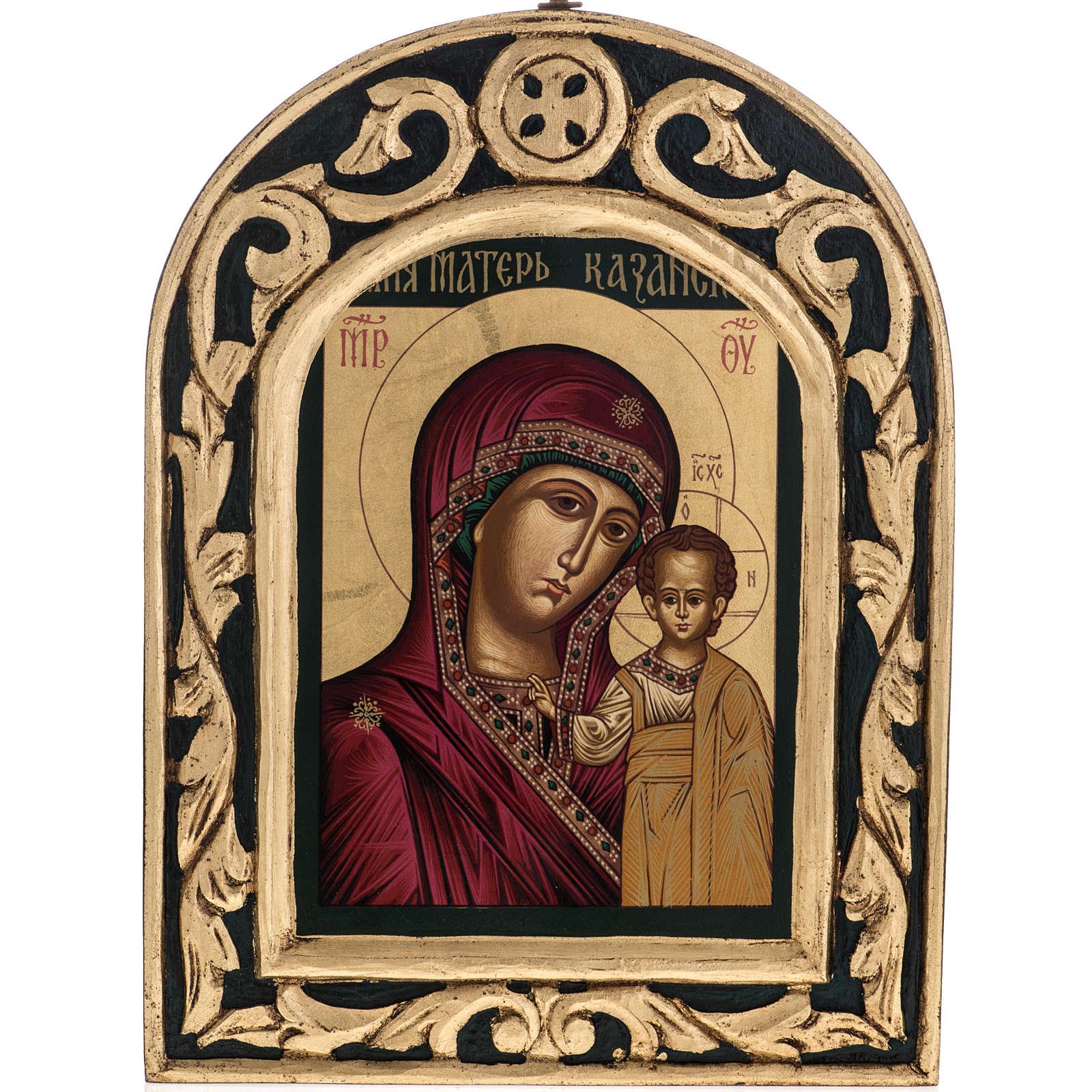 Icona Madonna di Kazan Grecia dipinta e serigrafata 4