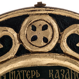 Icona Madonna di Kazan Grecia dipinta e serigrafata s4