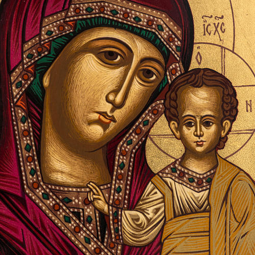 Icona Madonna di Kazan Grecia dipinta e serigrafata 2
