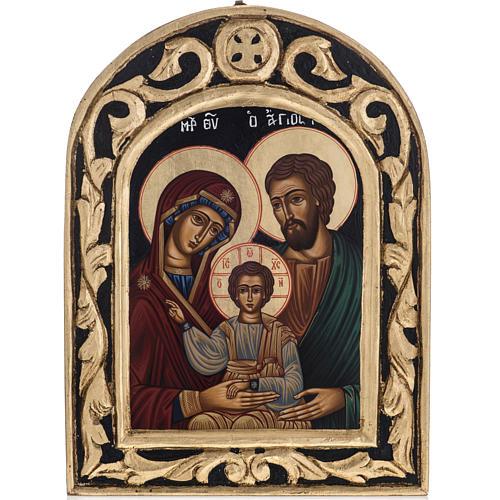 Icona Sacra Famiglia Grecia dipinta e serigrafata 1