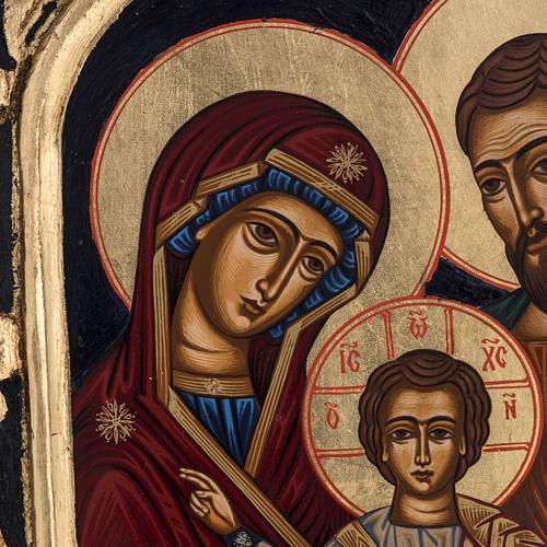Icona Sacra Famiglia Grecia dipinta e serigrafata 3