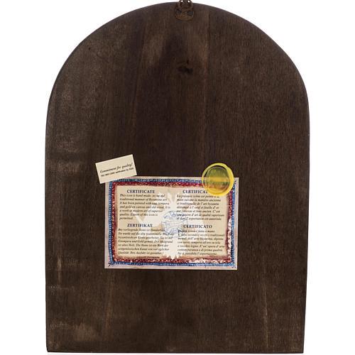 Icona Sacra Famiglia Grecia dipinta e serigrafata 6