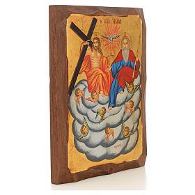 Icona Grecia dipinta SS. Trinità su nuvola s2