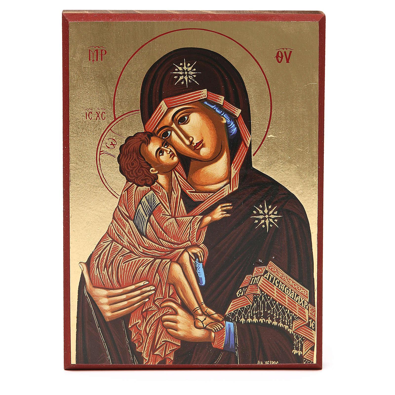 Stampa fondo oro 18x25 cm Madonna di Kiko 4