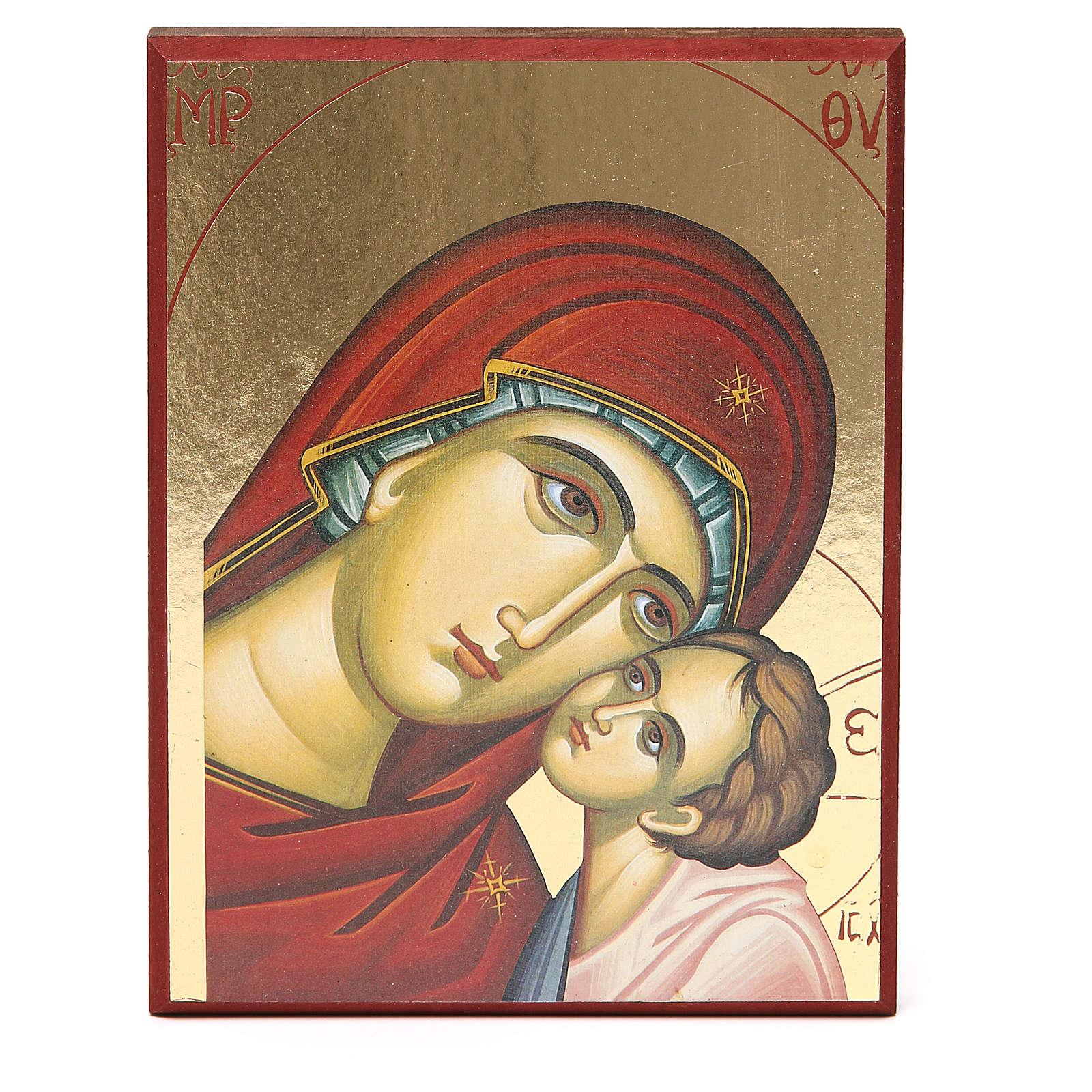 Impressão fundo ouro 17,5x23 cm Nossa Senhora de Kiko 4