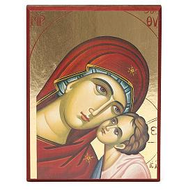Impressão fundo ouro 17,5x23 cm Nossa Senhora de Kiko s1