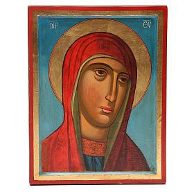 Icona dipinta immagine Madonna 31X24 cm s1