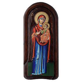 Icona a bassorilievo con Madonna Odigitria con Bambino 45x20 cm s1